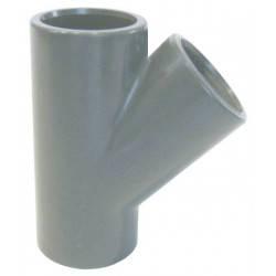 Teu PVC-U, D75, 45 grade