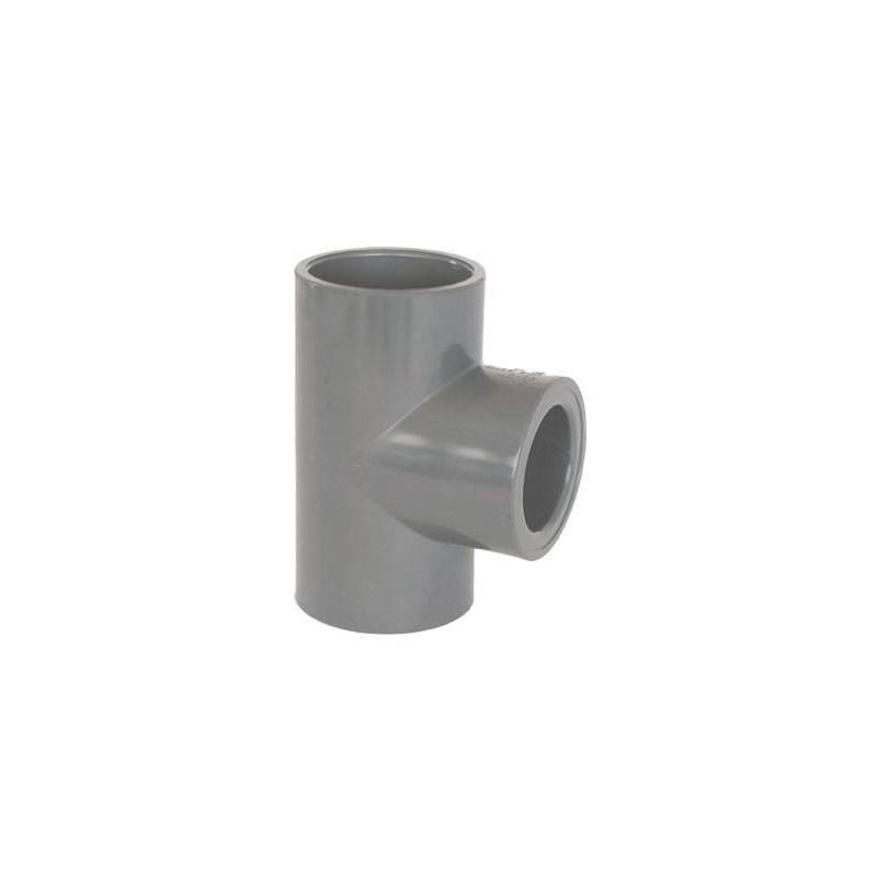 Teu redus PVC-U, D90-40, 90 grade  de la Coraplax referinta 7104087