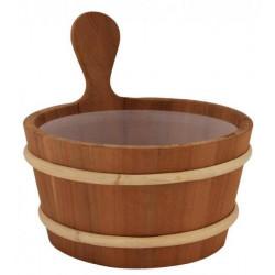 Galeata din lemn de cedru rosu 4L pentru sauna  de la Sentiotec referinta 1-028-491