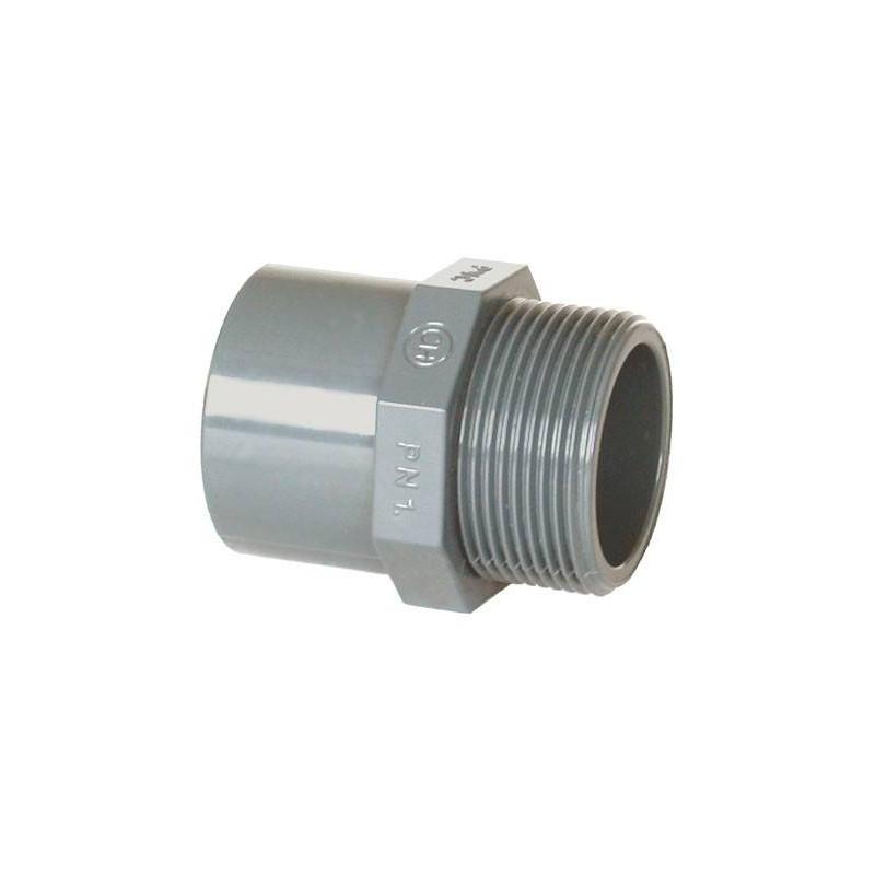 """Niplu mixt PVC D63/75-2 1/2"""" F.E.  de la Coraplax referinta 7307063"""