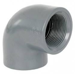 """Cot mixt PVC 90 grade D63-1 1/2"""" F.I.  de la Coraplax referinta 7301064"""