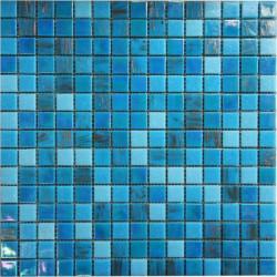 Mozaic sticla Pool2 suport hartie 20x20 cm  de la VetroGlassMosaic referinta POOL 2