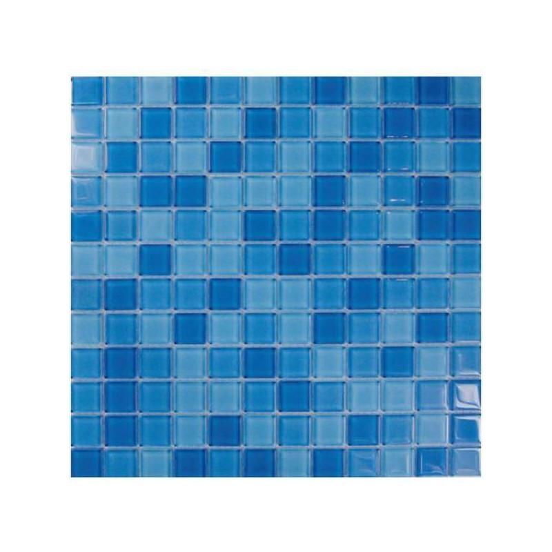 Mozaic sticla Prisma Mix suport hartie 20x20 cm  de la AstralPool referinta PC MIX 2012