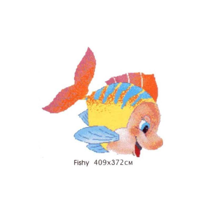 Decoratiune mozaic Fishy 409x372cm fundal mix102  de la VetroGlassMosaic referinta FISHY 102