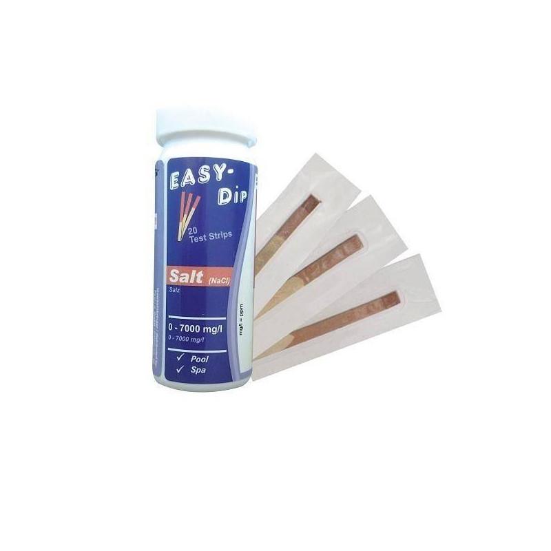 Tester sare (NaCl) Easy-Dip 20 benzi 0-8000ppm  de la Water-I.D. referinta TSL600