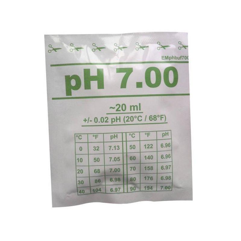 Solutie de calibrare 20ml pH 7.0 +/- 0.02  de la Water-I.D. referinta EMpHbuf700-20