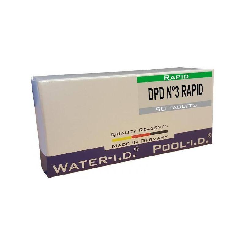 Tablete reactivi clor total DPD3, efervescent rapid, 50 bucati  de la Water-I.D. referinta TbsRD350