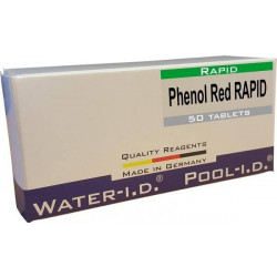Tablete reactivi pH Phenol Red, efervescente rapid, 50 bucati  de la Water-I.D. referinta TbsRpH50