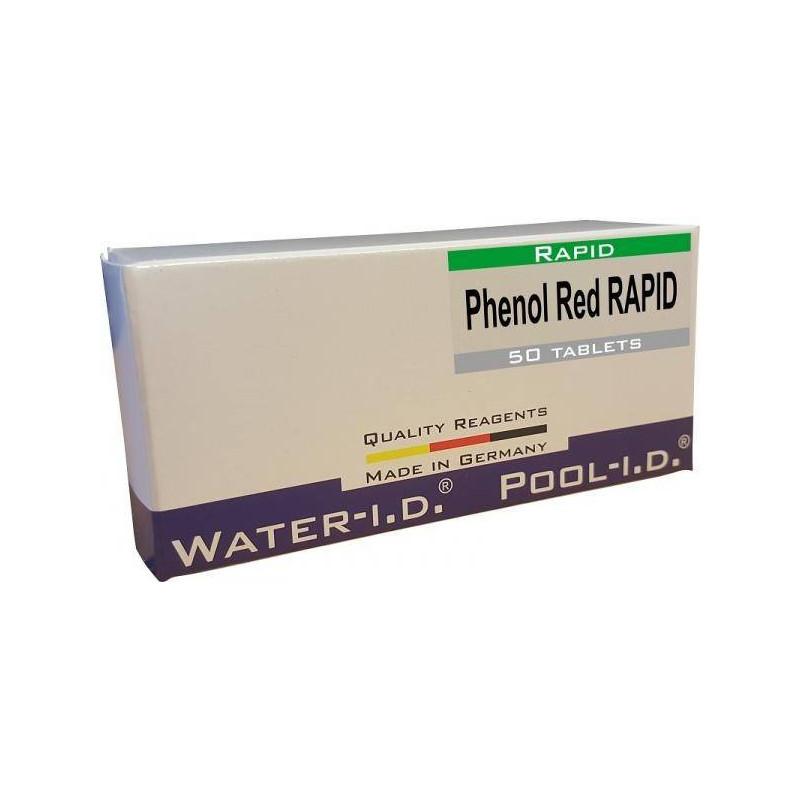 Tablete reactivi pH Phenol Red, efervescente rapid, 50 bucati  de la Water-I.D. referinta TbsRpH50