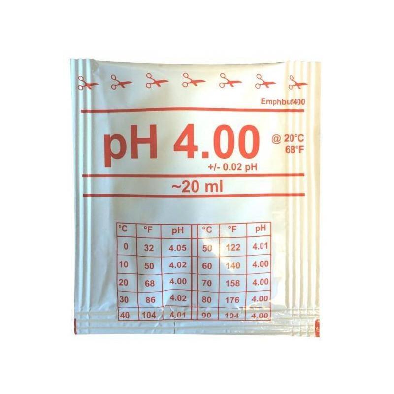 Solutie de calibrare 20ml pH 4.0 +/- 0.02  de la Water-I.D. referinta EMpHbuf400-20