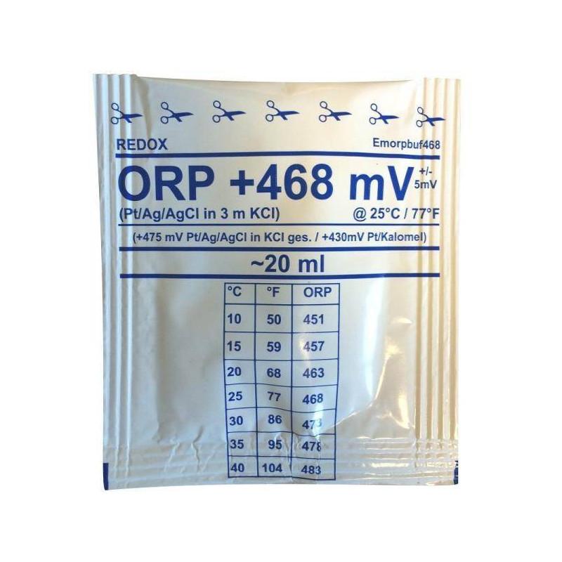 Solutie de calibrare 20ml ORP (Redox) +468 mV  de la Water-I.D. referinta EMORPbuf468-20