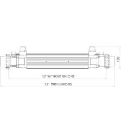 Schimbator de caldura din titan 122KW G2  de la Elecro Engineering referinta G2-HE-122T