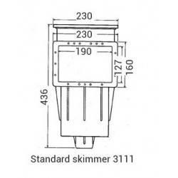 Skimmer Premium gura mica beton  de la Hayward referinta 3110