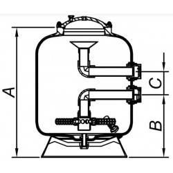 """Filtru Barcelona, bobinat, D1200 cu vana 3""""  de la Hayward referinta HCFE473I2WVA"""