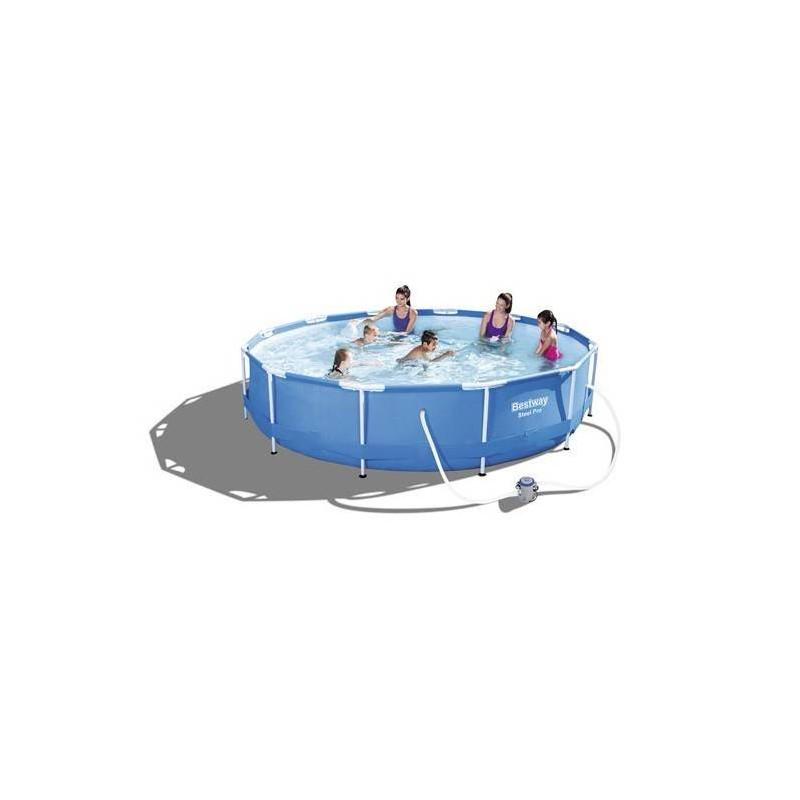 Piscina supraterana rotunda Bestway Steel Pro 366X76 cm  de la Bestway referinta 56416
