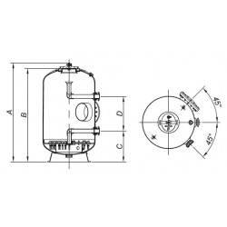 Filtru bobinat Fiberpool ITALY, D1600, conexiune 110mm  de la Hayward Commercial Aquatics referinta HCFH631104WVNMS