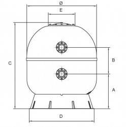 Filtru Artik, D1600, conexiune 110mm  de la Hayward Commercial Aquatics referinta HCFA631102LVA