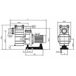 Pompa HCP 4000, 6.50 CP, 400V  de la Hayward Commercial Aquatics referinta HCP40653E
