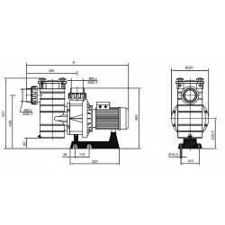 Pompa HCP 3800 3.0 CP 230V  de la Hayward Commercial Aquatics referinta HCP38301E