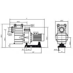 Pompa HCP 4200, 10 CP, 400V  de la Hayward Commercial Aquatics referinta HCP421003E