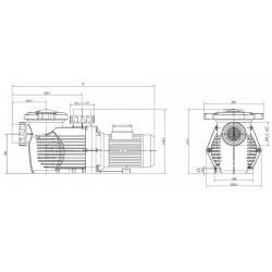 Pompa HCP 3600, 3 CP, 400V  de la Hayward Commercial Aquatics referinta HCP36303E