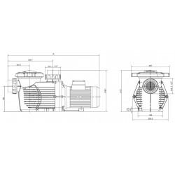 Pompa HCP 3600, 3.5 CP, 400V  de la Hayward Commercial Aquatics referinta HCP36353E