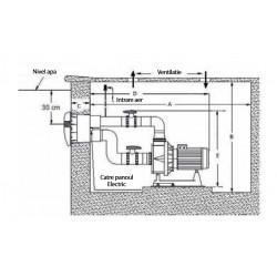 Hidrojet Calipso 3 CP 400V - sistem inot contra-curent  de la Hayward Commercial Aquatics referinta JC46