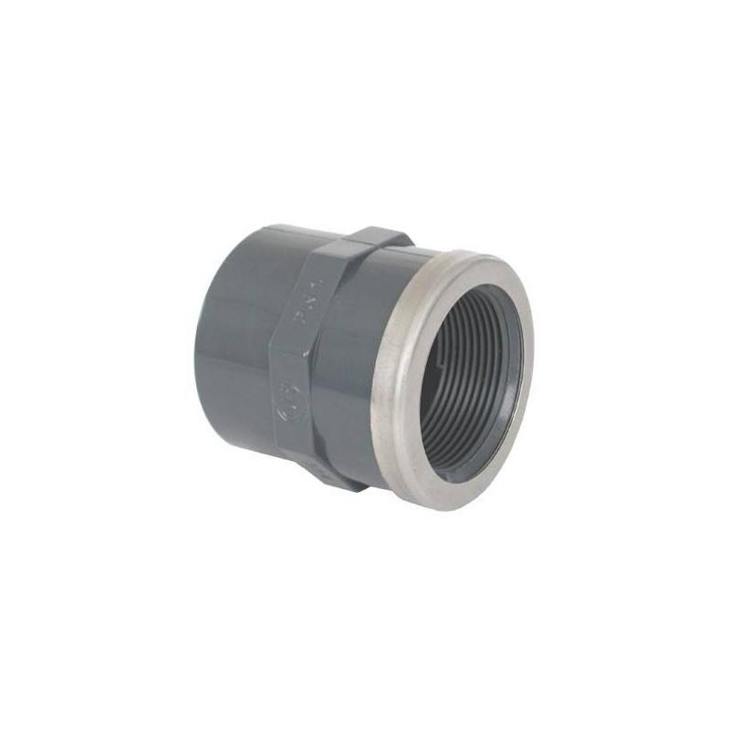 """Mufa PVC mixta, intarita D20-1/2"""" F.I.  de la Coraplax referinta 7305620"""