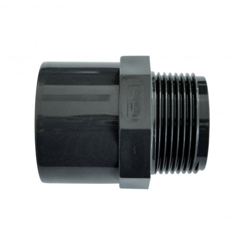 "Niplu mixt PVC D50/63-2"" F.E. Plimat  de la Plimat referinta EF63502"