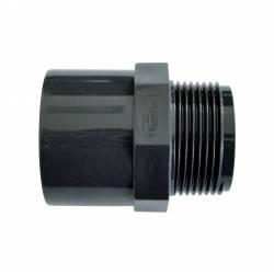 "Niplu mixt PVC D40/50-1 1/2"""