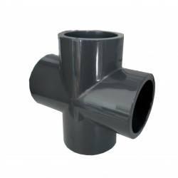 Cruce PVC D50