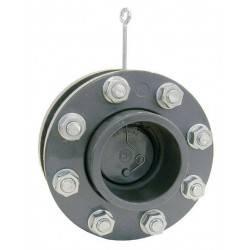 Clapeta sens PVC cu flanse D75 si arc  de la Coraplax referinta 2750075