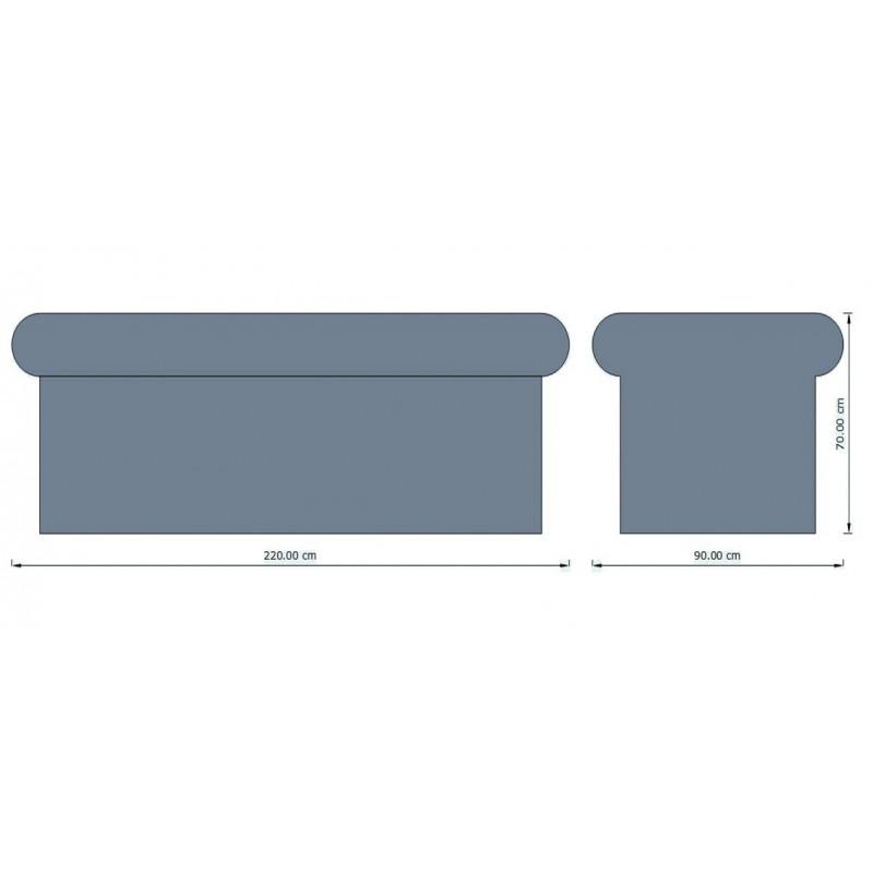 Pat masaj EPS, 220 x 90 cm  de la  referinta EPS027