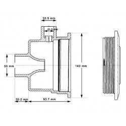 Sistem hidromasaj Turbo-Jet ABS beton  de la Hayward referinta SP1450TE