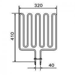 Rezistenta incalzitor electric sauna 3000 W, Harvia  de la Harvia referinta ZSK-720