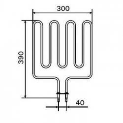 Rezistenta electrica incalzitor sauna 2670 W, Harvia ZSK-710  de la Harvia referinta ZSK-710