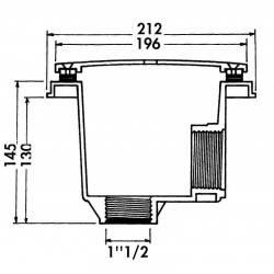 """Sifon rotund beton 2""""  de la Hayward Pool referinta 3252"""