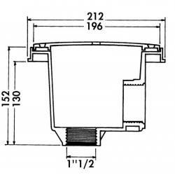 Sifon rotund beton, lipire D63-50  de la Hayward Pool referinta 3254