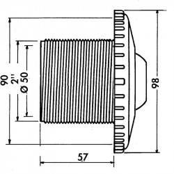 Duza refulare perete beton Multiflow  de la Hayward Pool referinta 3304