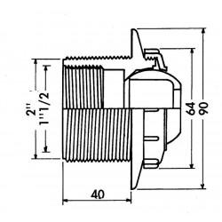 Duza refulare perete beton Multiflow 3310  de la  Hayward Pool referinta 3310