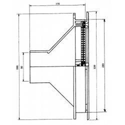 Duza aspirare perete, beton, D340 mm  de la Hayward Pool referinta 03302