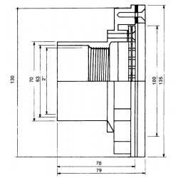 """Duza refulare perete liner 2""""  de la Hayward Pool referinta 3319"""
