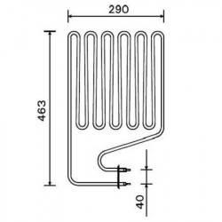 Rezistenta electrica incalzitor sauna 3000 W, Harvia ZSP-255  de la Harvia referinta ZSP-255
