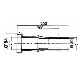 Trecere perete liner 250 mm  de la Hayward Pool referinta 3352