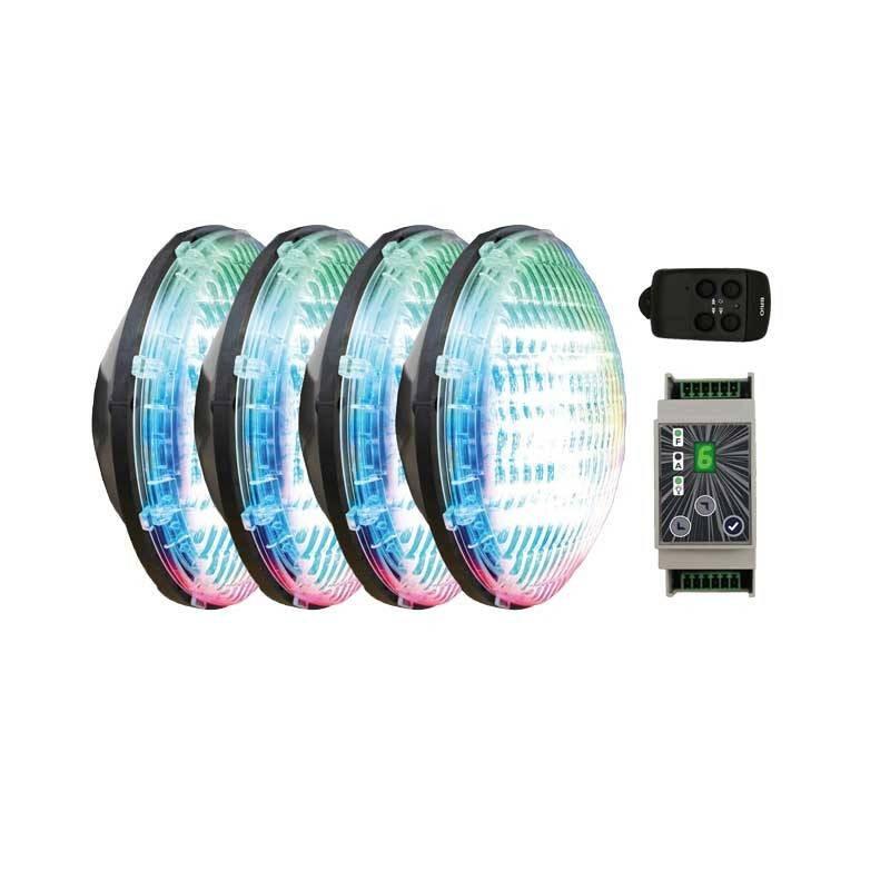 Set 4 becuri RGB cu modul si telecomanda  de la CCEI referinta WEX30X4