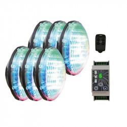 Set 6 becuri RGB cu modul...