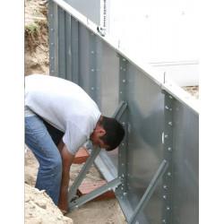 Piscina panouri metalice, Etapa 3 - ancore ranforsare pentru intarirea structurii