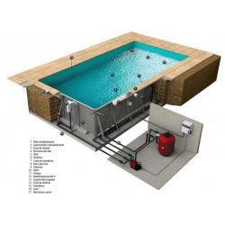 Schita piscina panouri metalice cu skimmer