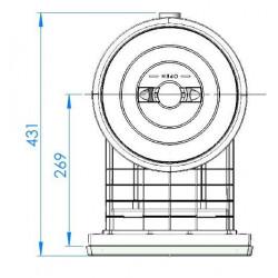 Skimmer gura standard 17.5L, beton - dimensiuni vedere sus