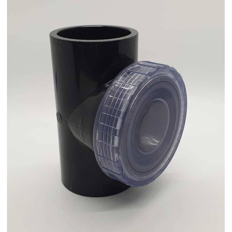 Clapeta de sens T capac transparent PVC-U, D50  de la Plimat referinta CARBT50